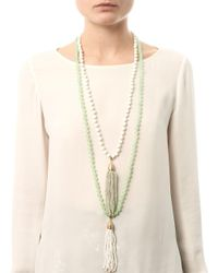 Rosantica Green Himalaya Opal and Agate Tassel Necklace