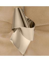 Jimmy Choo Metallic Cara Nude Suede Clutch Bag