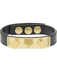 Saint Laurent | Black Studded Leather Bangle | Lyst