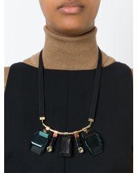 Marni | Black Multiple Pendant Necklace | Lyst