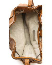Michael Kors Brown Julie Small Drawstring Bag Luggage