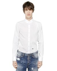 DSquared² - White Cotton Poplin Shirt for Men - Lyst