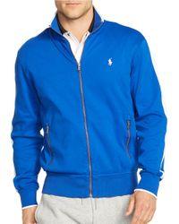 Polo Ralph Lauren | Blue Full-zip Interlock Track Jacket for Men | Lyst