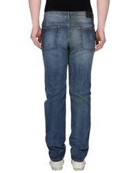 Corneliani - Blue Denim Trousers for Men - Lyst