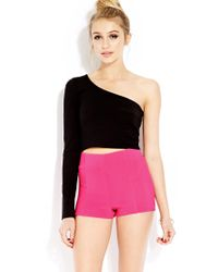 Forever 21 | Pink Bold High-waisted Shorts | Lyst
