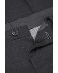 BOSS Gray Slim-fit Business Trousers 'gabron' In New Wool for men