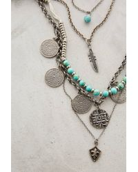 Anthropologie | Metallic Layered Sonho Necklace | Lyst