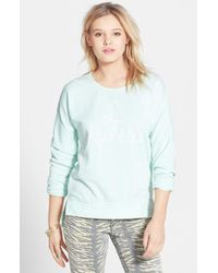 Volcom - Blue 'Dweller' Graphic Burnout Fleece Pullover - Lyst