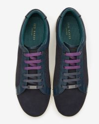 Ted Baker - Blue Suede Trainers for Men - Lyst