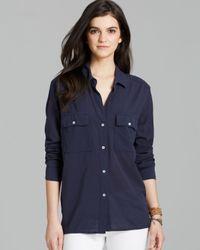James Perse Blue Shirt Button Down Pocket