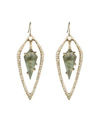 Alexis Bittar | Metallic Kinetic Gold Orbiting Teardrop Earring | Lyst