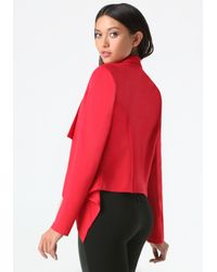 Bebe | Red Waterfall Jacket | Lyst