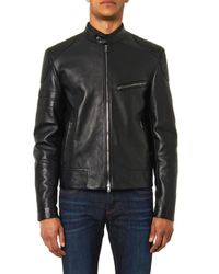 Gucci Black Leather And Wool Jacket for men