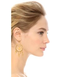 Chan Luu | Metallic Circle Earrings - Sunflower | Lyst
