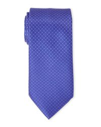 Brioni - Blue Diamond-Print Silk Tie for Men - Lyst