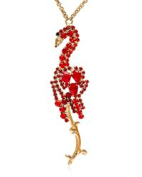 Halaby - Red Flamingo Necklace - Lyst