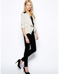 Aryn K. - Natural Pretty Sheer Silk Blouse with Three Quarter Sleeves - Lyst