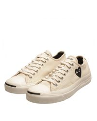 Comme des Garçons Play Jack Purcell Converse White with Black Heart for men