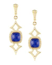 Armenta | Blue Elongated Lapis & Diamond Earrings | Lyst