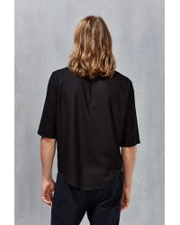 Assembly | Black Noncollar Button-down Shirt for Men | Lyst