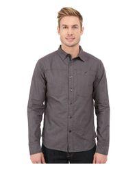 Black Diamond - Gray Long Sleeve Chambray Modernist Shirt for Men - Lyst