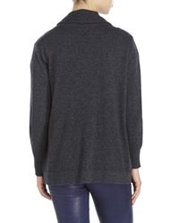 Magaschoni | Gray Buckled Cashmere Cardigan | Lyst