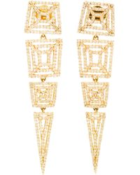 Maiyet | Metallic Machu Picchu Diamond and Yellow Gold Earrings | Lyst