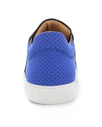MM6 by Maison Martin Margiela Slip On Sneakers - Black/Navy/Bluette