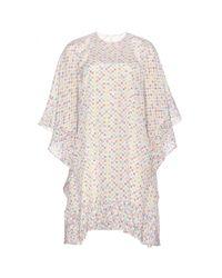 Valentino - Multicolor Silk Chiffon Dress - Lyst