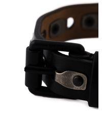 Lanvin   Black Rivet Detailing Bracelet for Men   Lyst