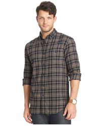 G.H. Bass & Co. | Brown Long-sleeve Flannel Shirt for Men | Lyst