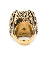 Alexander McQueen - White Swarovski Crystal Cocktail Ring - Lyst