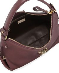 Ferragamo - Purple Fanisa Pebbled Gancini Hobo Bag - Lyst