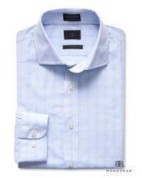 Banana Republic | Blue Br Monogram Italian Woven Check Shirt for Men | Lyst
