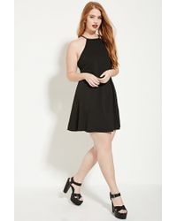 c755f854bc7 Forever 21 Plus Size Textured Cami Dress in Black - Lyst