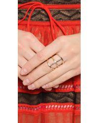 Phyllis + Rosie Metallic Rib Ring - Gold