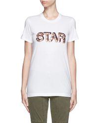 Markus Lupfer - White 'star Sequin' Kate T-shirt - Lyst