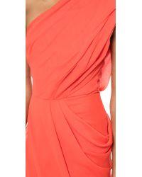 Camilla & Marc Redkite One Shoulder Gown - Vermillion