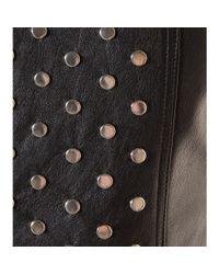 Saint Laurent Black Studded Leather Dress
