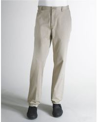 Calvin Klein | Natural Twill Straight Fit Pants for Men | Lyst