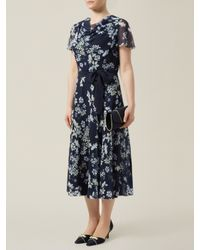 Jacques Vert Black Butterfly Floral Prom Dress