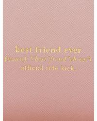 kate spade new york - Pink Wedding Belles Travel Passport Holder - Lyst