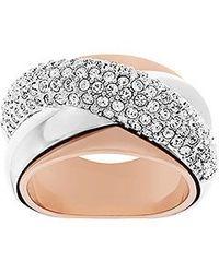 Swarovski Metallic Wave Ring