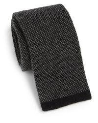 Saks Fifth Avenue - Black Cashmere Knit Tie for Men - Lyst