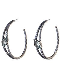 Alexis Bittar - Blue Sapphire And Quartz Double Band Hoop Earring You Might Also Like - Lyst