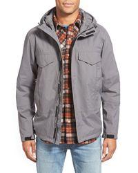 Timberland Gray 'mt. Oscar' Waterproof Hooded Shell Jacket for men
