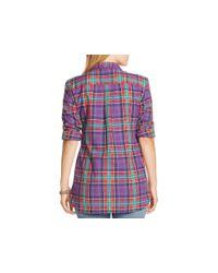 Pink Pony | Purple Lauren Plus Plaid Shirt | Lyst