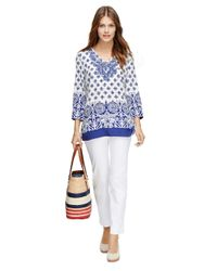 Brooks Brothers - White Natalie Fit Cotton Pants - Lyst