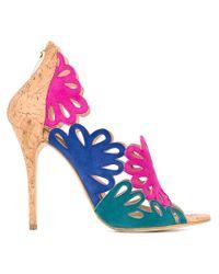 Oscar de la Renta - Multicolor Cut-out Panels Stiletto Sandals - Lyst
