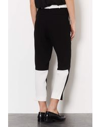 TOPSHOP - Black Colourblock Tailored Trousers - Lyst